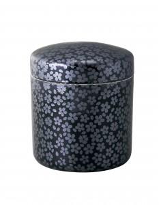 骨壷 黒彩桜